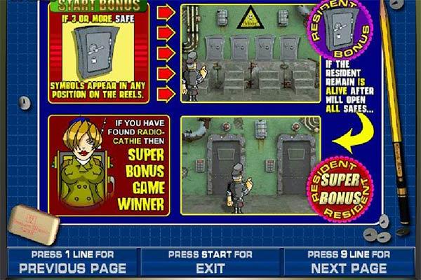 Доверьтесь отважному агенту разведки.В игровой автомат resident можно играть бесплатно или за наличные, а все эти пушки и револьверы, награды и .Курск